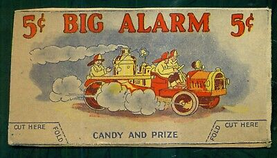 """1920's """"Big Alarm"""" Candy Box Top Fire Engine Stand-up"""
