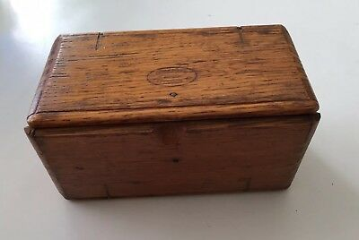 ANTIQUE SINGER SEWING MACHINE Attachment Box OAK , 1889