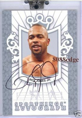 2007 Sport Kings Auto Silver #rj3: Roy Jones Jr/40 Autograph Fighter Of Decade