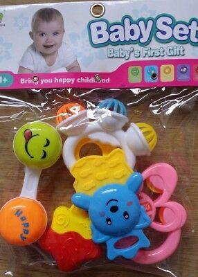 Baby Rattle Toys Set Baby's First Gift Set UK Seller