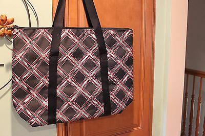 Vera Bradley Padded Insulated Lighten Up Cooler Tote Minsk Plaid (NWT)