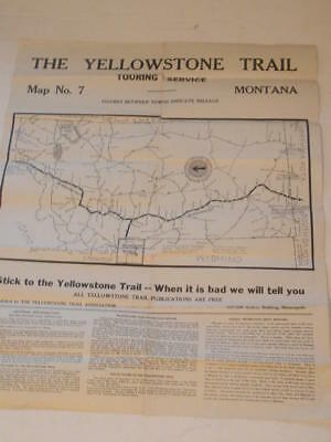 Antique Map: The Yellowstone Trail Touring Map No. 7 Montana