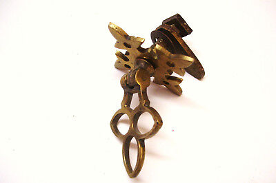 Antique Brass Drop Pull Door Knob with Turn Buckle - For Washstand or Cabinet