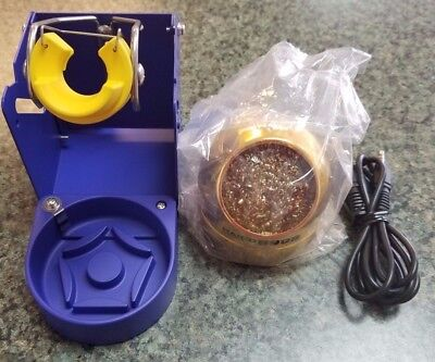 Hakko FH-200-01 Series Iron Holder with 599B Tip Cleaner **New**