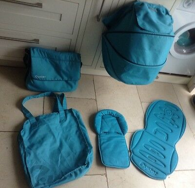 Oyster Stroller Colour Pack Fabrics And Changing Bag Ocean