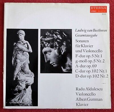 Beethoven: Cello Sonatas - Radu Aldulescu / Guttman **Eterna Red Stereo 2LP**