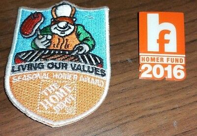 Home Depot Patch Badge Living Our Values Seasonal Homer Award Fund Pinpack Pin