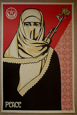 Shepard Fairey (OBEY) - Große Orig. Grafik, Arab Woman, Sign.nummeriert