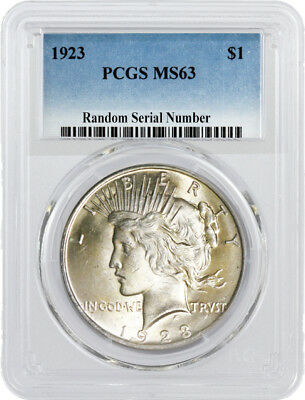 SALE 1923 $1 Silver Peace Dollar PCGS MS63