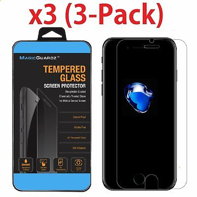 3-Pack For iPhone 6 / 7 / 8 Plus Tempered GLASS Screen Protector Bubble Free