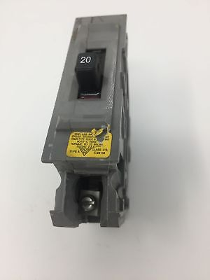 Wadsworth 20 Amp 1 Pole Circuit Breaker Type A A120