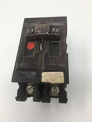 Wadsworth 50 Amp 2 Pole Circuit Breaker Type A A250