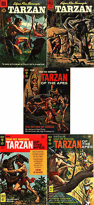 Edgar Rice Burroughs' Tarzan Dell/Gold Key Silver/Bronze Lot - Five (5) Books!