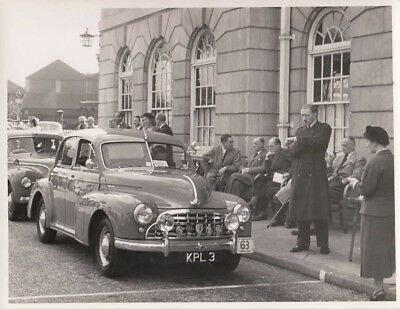 MORRIS CAR No.63, REG No.KPL3 AT START OF RALLY PERIOD PHOTOGRAPH.