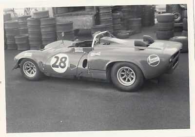 ? GINETTA ?, SPORTSCAR No.28 IN PADDOCK PHOTOGRAPH.