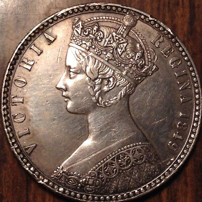 1849 Uk Gb Great Britain Silver Florin In Magnificent Condition - Cleaned