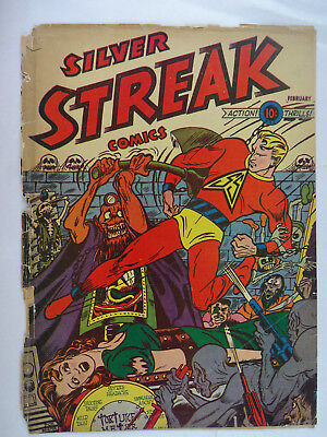 Golden Age Comic Book Covers  Lot of 12    Silver Streak