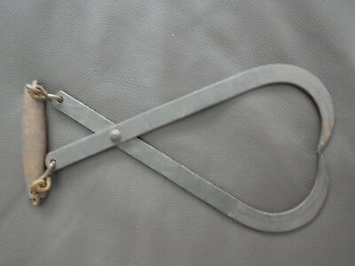 Antique Ice Block Tongs with Chain Handle ~ Vintage Rustic Metal Hooks
