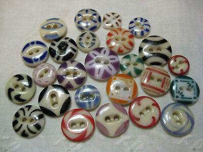 Very Nice Lot Antique China Stencil Buttons