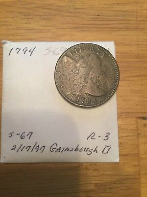 1794 Liberty Cap Flowing Hair Large Cent S 67 R-3