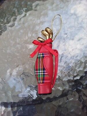Golf Bag Christmas Tree Ornament Detailed With Clubs