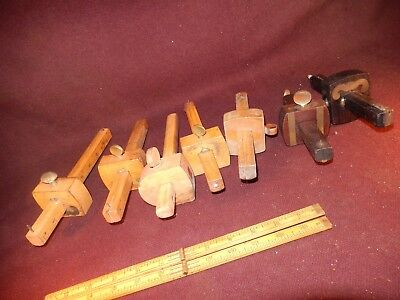 7 marking gauges, variety pack, various makers, collectible-user