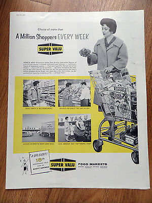 1960 Super Valu Food Markets Ad  A Million Shoppers Every Week