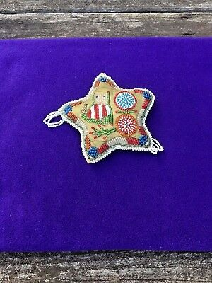 Native American Indian Beadwork Northeast Woodland Iroquois Cushion