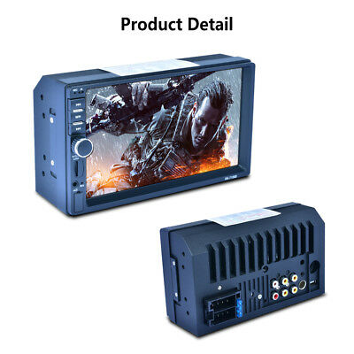 Double 2DIN Touch Screen MP5 MP3 Player Bluetooth Radio Stereo SD card UDisk AUX