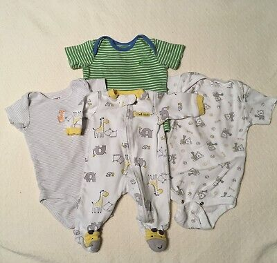 Gender Neutral Baby Boy Girl Mixed Lot, Newborn, 6 & 9 Months, Sleeper Bodysuits