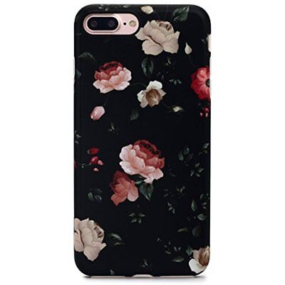 Case Cover For Girls Floral Series For IPhone 7 Plus 5.5 Inch - Flower Black