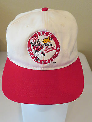 """Vintage CAMPBELL'S Soup RARE Truckers Cap Hat Snapback """"Team Campbell's"""""""