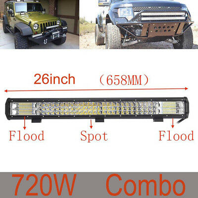 26inch 720W LED Cree Bead Head Light Work Light Bar for SUV ATV Truck