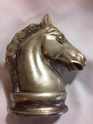 """Vintage """"Silver Plated"""" Horse Bank"""
