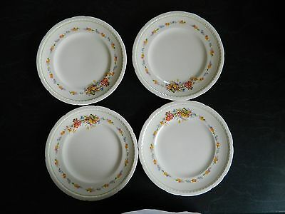 Vintage Set Of 4 Dinner Plates Swinnertons Staffordshire England Majestic Vellum