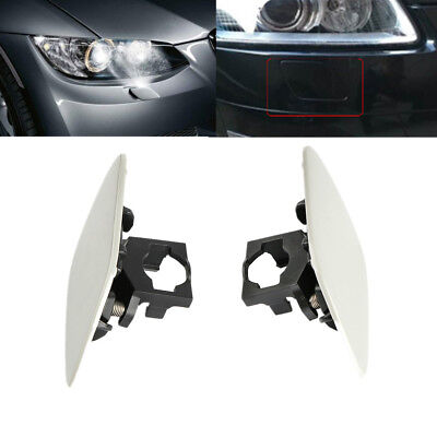 Front Headlight Washer Cover Cap Lamp Flap Cover Trim For BMW 3-Series E92 E93