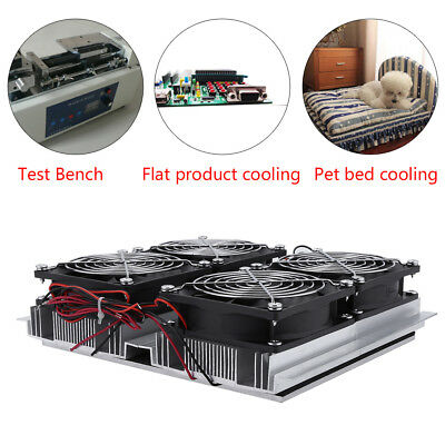 240W Semiconductor Radiator Thermoelectric Peltier Cooling Cold Plate + 4 Fan
