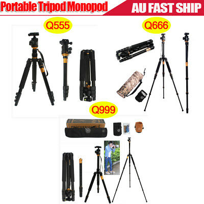 Q555 Q666 Q999 Aluminium Tripod Monopod with Ball Head for Camera DSLR Camcorder