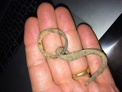 Ancient Roman Bronze Artifact, 1st - 3rd c. AD. Hook