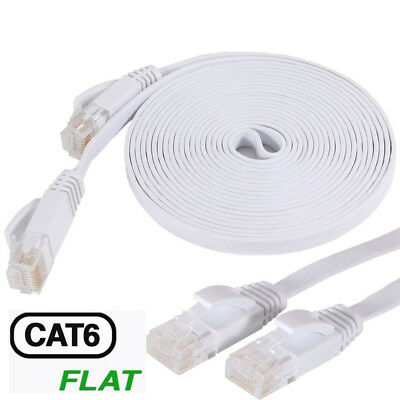 1-15M 3-49ft CAT6 RJ45 Ethernet Network LAN Cable Flat UTP Patch Router Cable PC