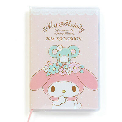 My Melody Pocket Date Book 2018 Made in Japan Sanrio Kawaii Cute F/S NEW