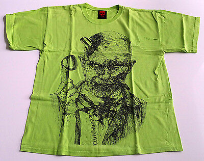 "Original Zero Skateboards T-Shirt Tommy Sandoval ""zombie Hairs"" L Green Oop"