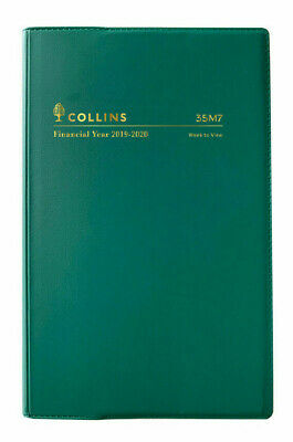 2019 2020 Collins Financial Year Diary B7R Week to View Open Vinyl 35M7 Green