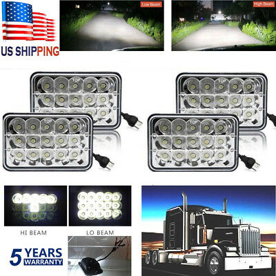 4sets 4x6 45W Sealed LED Headlight (H4651 H4652 H4656 H4666 H6545 Replacement)