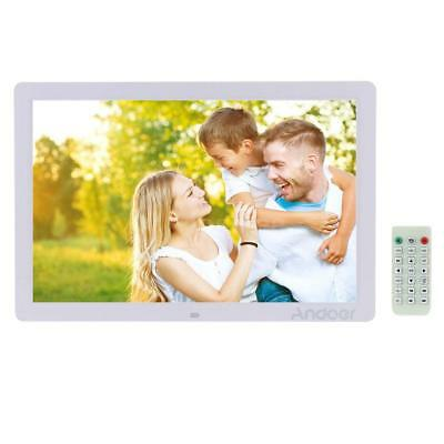 "17"" LED Digital Photo Frame HD 1080P Alarm Clock MP3 MP4 Player Remote US STOCK"