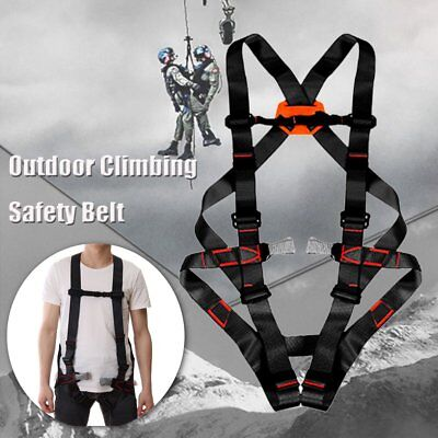 Full Body Safety Rock Tree Climbing Arborist Tree Rappelling Harness Seat Belt