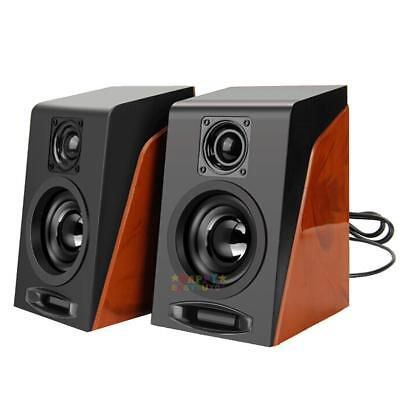 Small Desktop Speakers USB Audio Music Player Subwoofer Restoring for PC Laptop