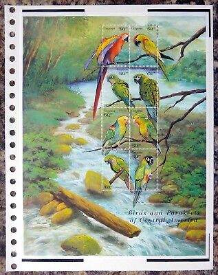 GUYANA Birds on 3 Pages U/M NB3538