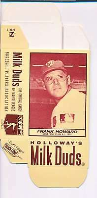 1968 Milk Duds Halloway's Frank Howard Senators Card Nm Vl660