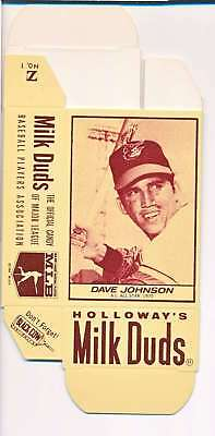 1968 Milk Duds Halloway's Dave Johnson Orioles Card Nm Vl659